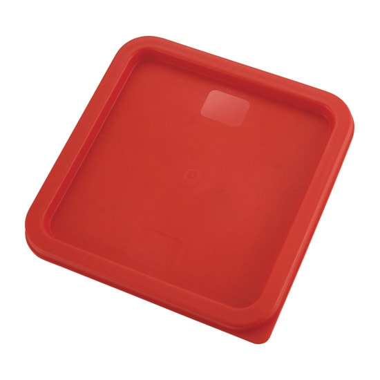 Winco PECC68 Square Cover for 6 & 8 qt Storage Containers, Polyethylene, Red