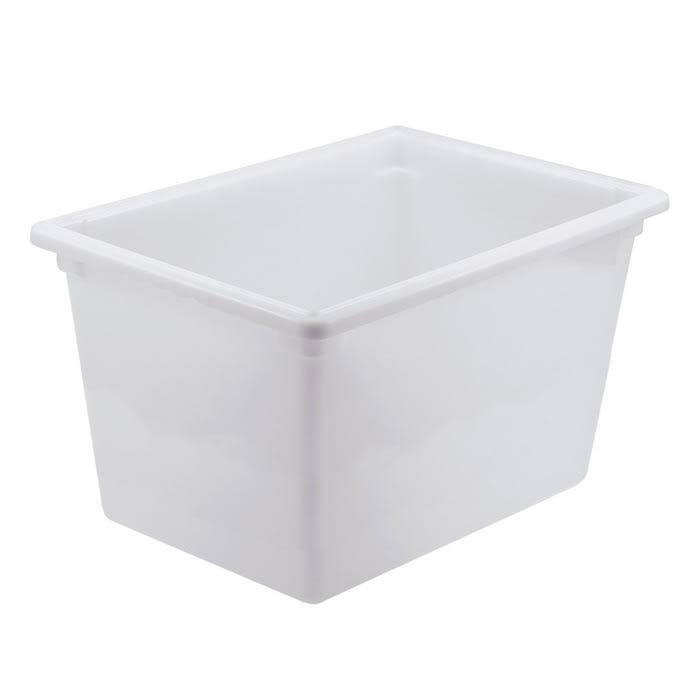 "Winco PFFW-15 Food Storage Box - 26x18x15"", Stackable, White"