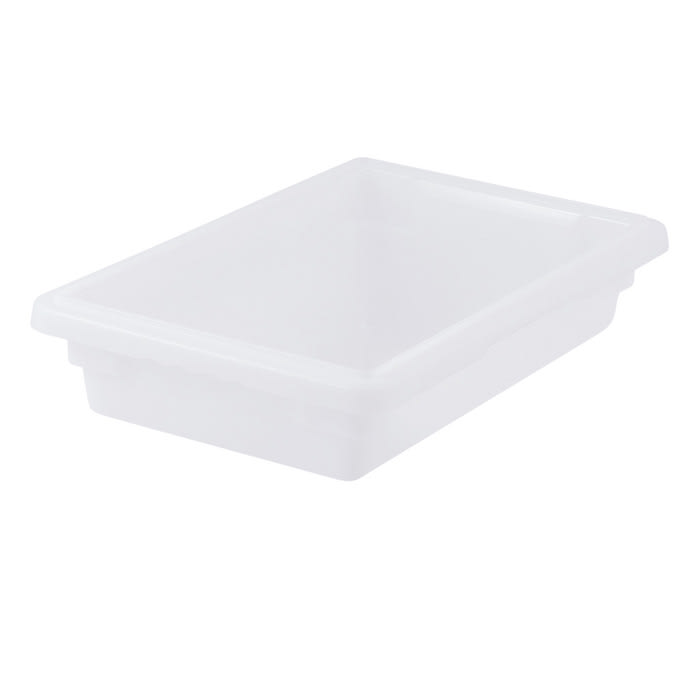 "Winco PFHW-3 Food Storage Box - 18x12x3"", Stackable, White"