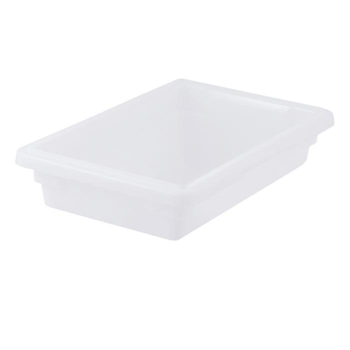 "Winco PFHW-3 Food Storage Box - 18x12x3"", Stackable, White"