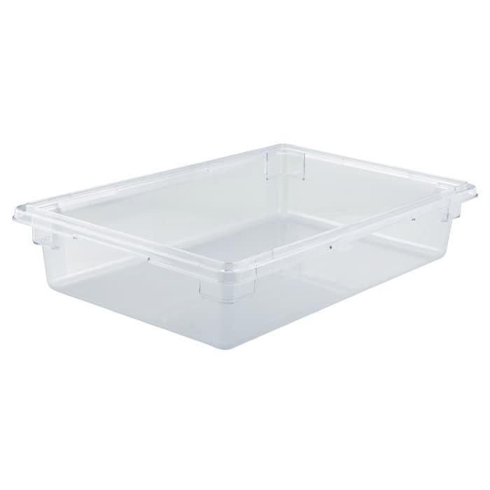 "Winco PFSF-6 8 gallon Food Storage Box, 18 x 26 x 6"", Polycarbonate, Clear"