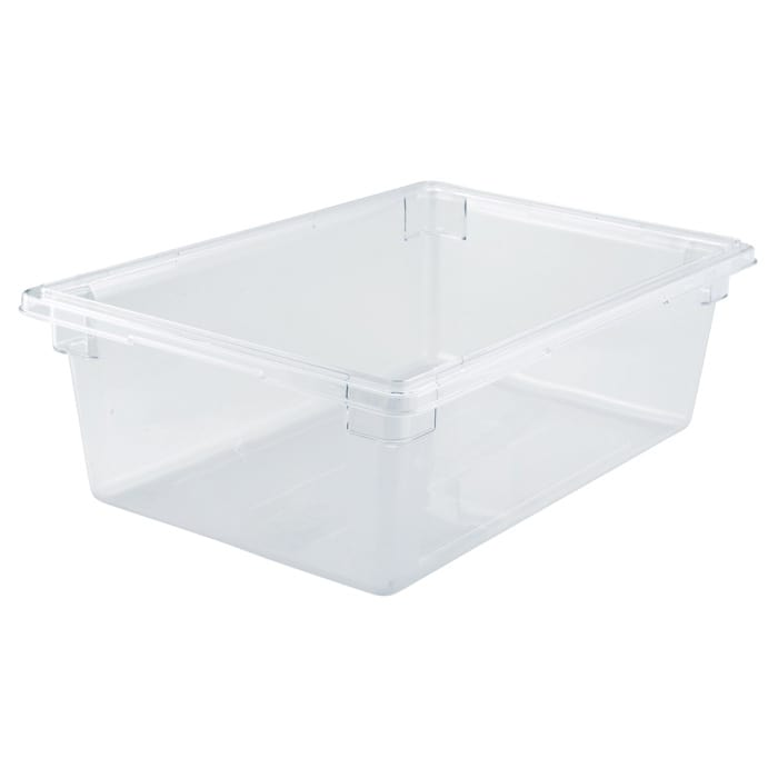 "Winco PFSF-9 13 gallon Food Storage Box, 18 x 26 x 9"", Polycarbonate, Clear"