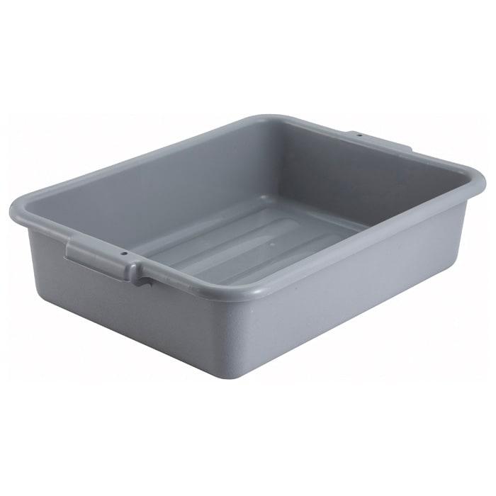 "Winco PL-5G 5"" Plastic Dish Box, Grey"
