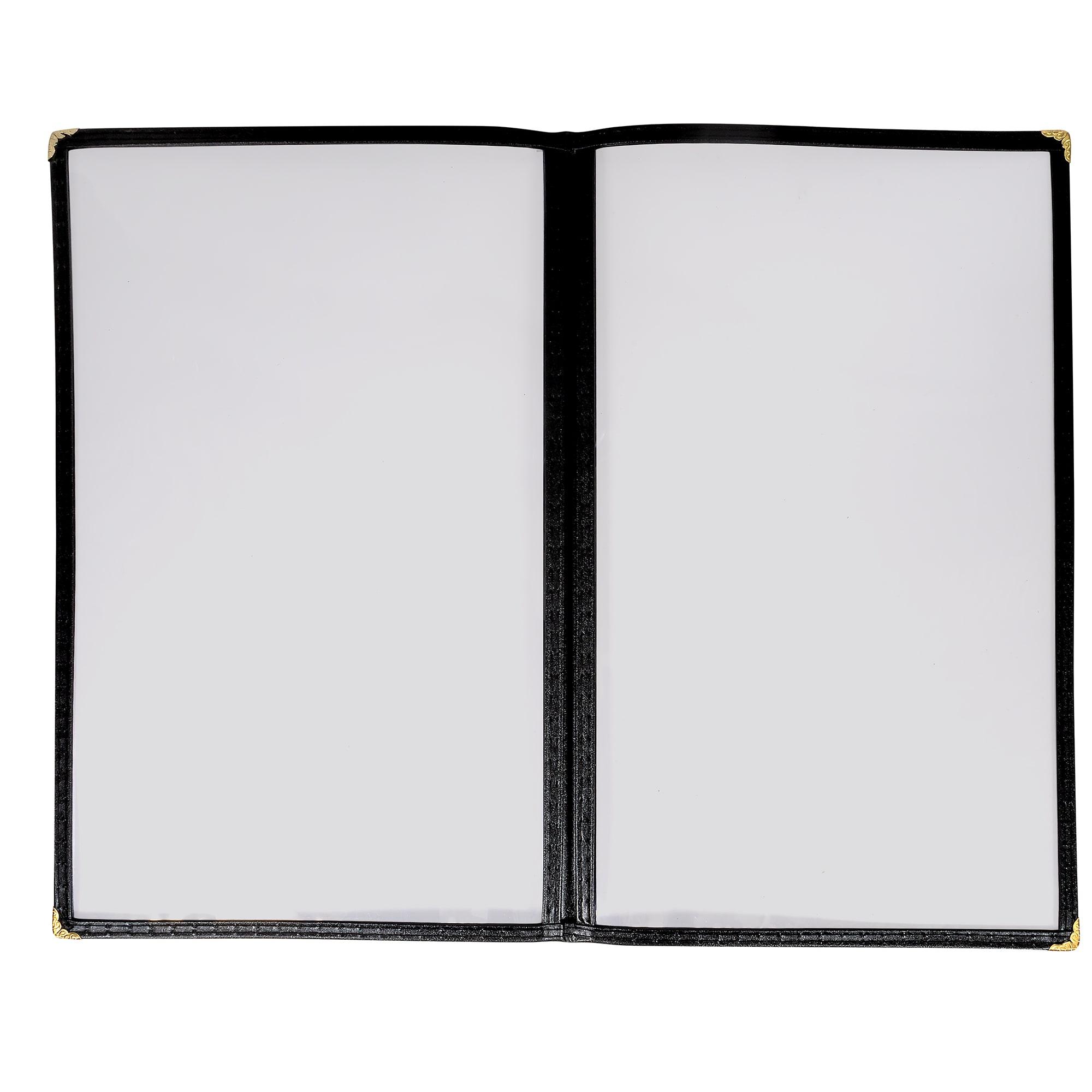 "Winco PMCD-14K Double-Fold Menu Cover, 8.5 x 14"", Black"