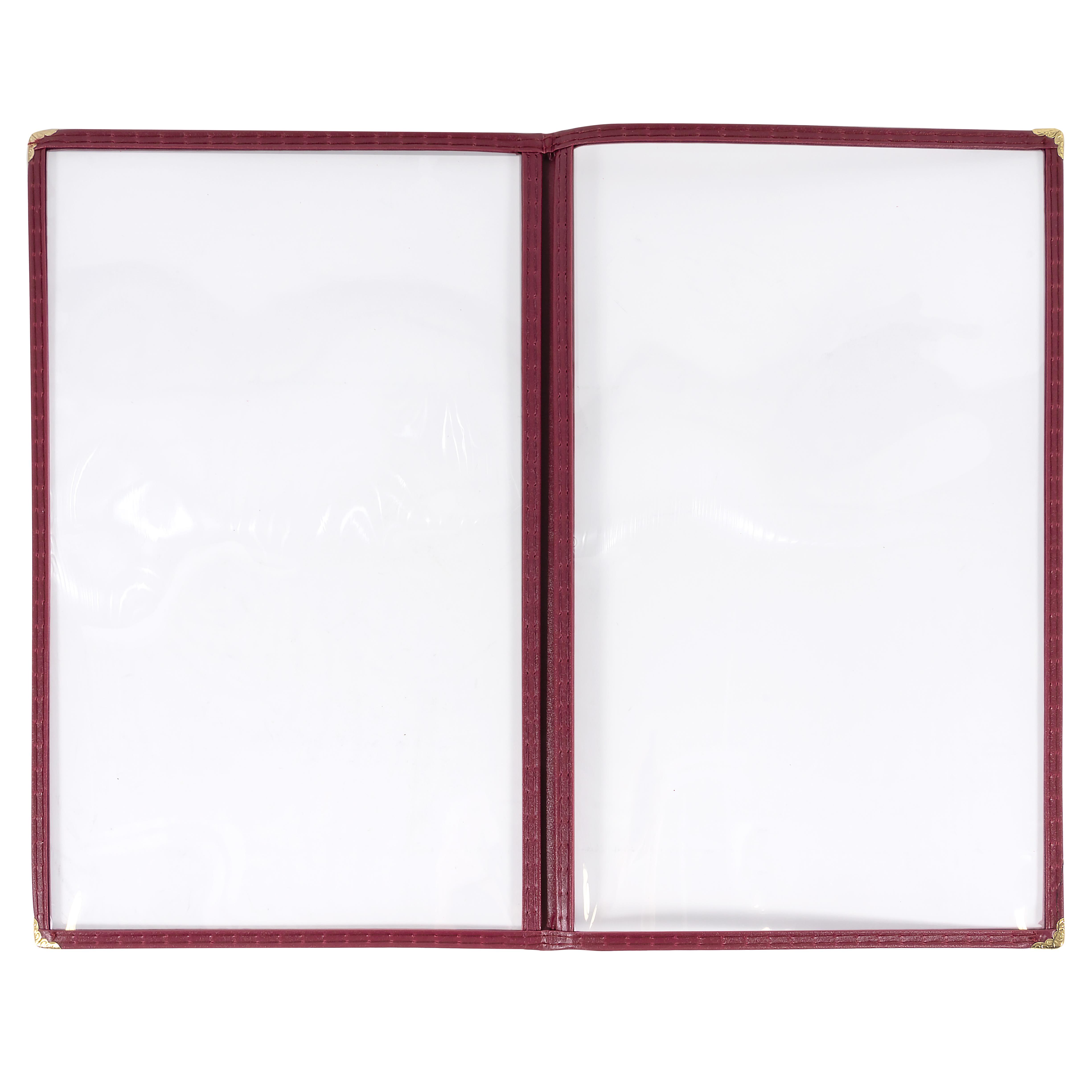 "Winco PMCD-14U Double-Fold Menu Cover, 8.5 x 14"", Burgundy"