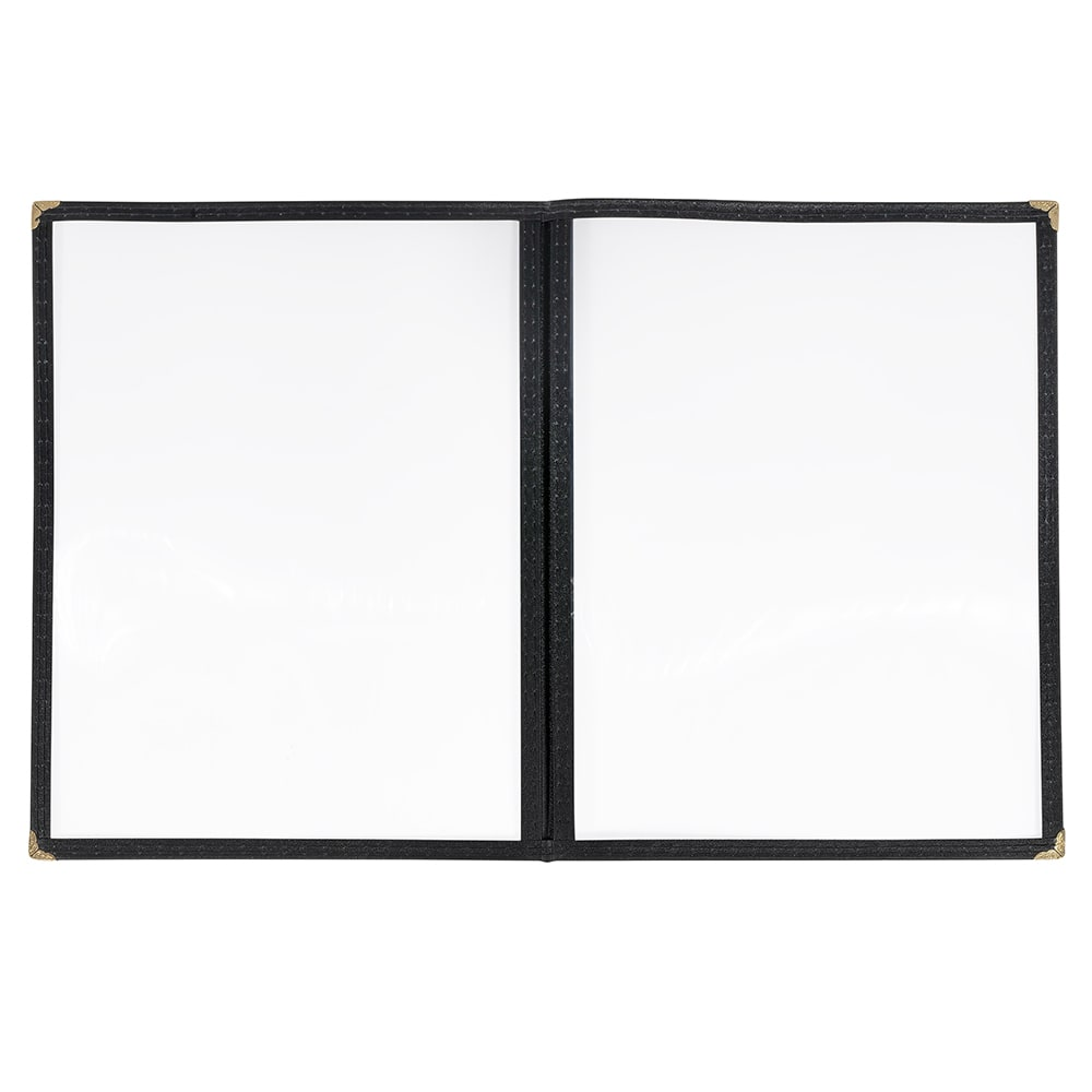 "Winco PMCD-9K Double-Fold Menu Cover, 9.5 x 12"", Black"