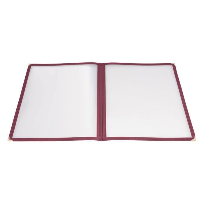"Winco PMCD-9U Double-Fold Menu Cover, 9.5 x 12"", Burgundy"