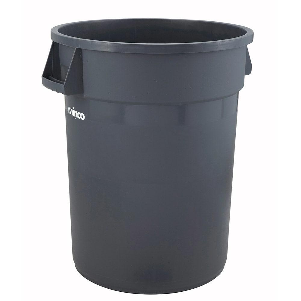 Winco PTC-44G 44 gal Large Trash Can, Gray