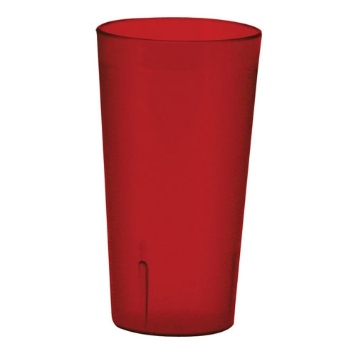 Winco PTP-32R 32 oz Pebbled Tumbler, Red