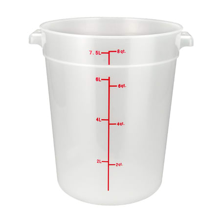 Winco PTRC 8 Qt Round Storage Container Polypropylene