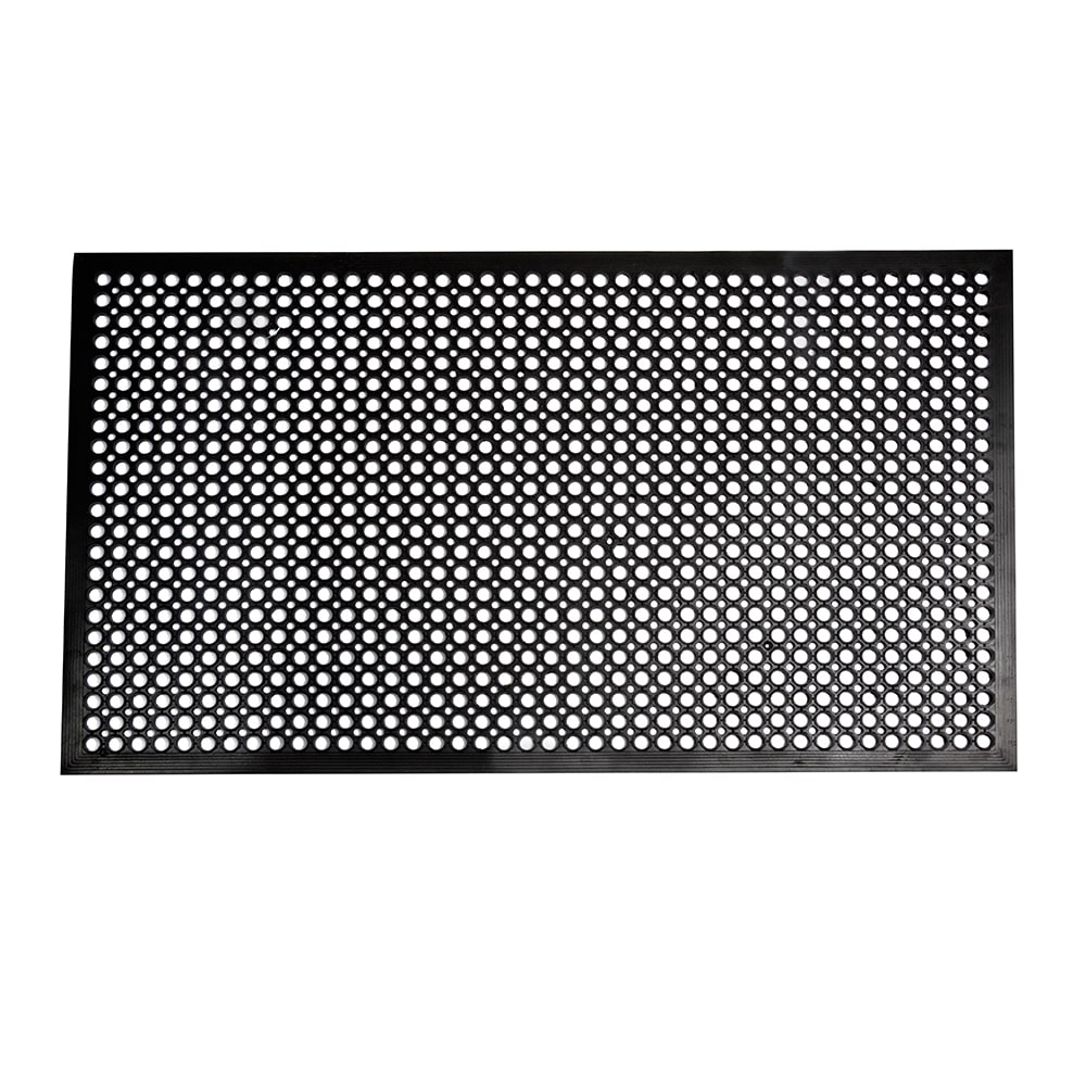 "Winco RBM-35K Anti-Fatigue Floor Mat w/ Beveled Edges, Rubber, 3 x 5 x .5"", Black"