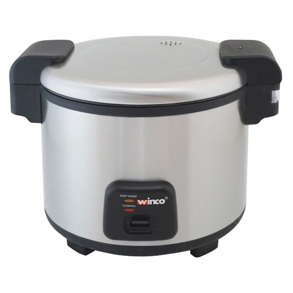 Winco RC-S300 30 Cup Electric Rice Cooker w/ Hinged Cover & Stainless Body, Satin Finish, 120v