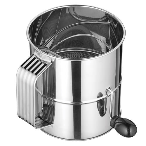 Winco RFS-8 8 Cup Rotary Sifter, Stainless
