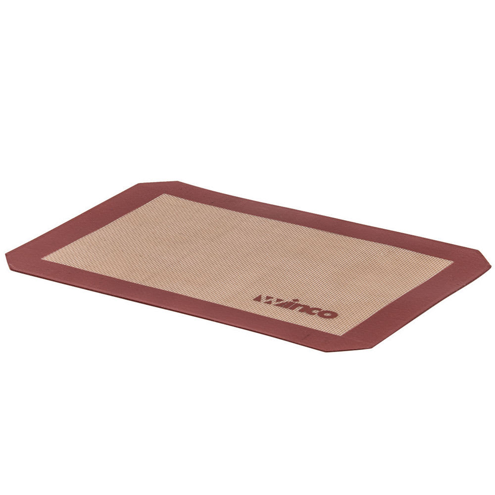 Winco SBS-16 Square Baking Mat, 11 7/8 x 16 1/2 in, Fits 1/2 Size Sheet Pan, Silicone