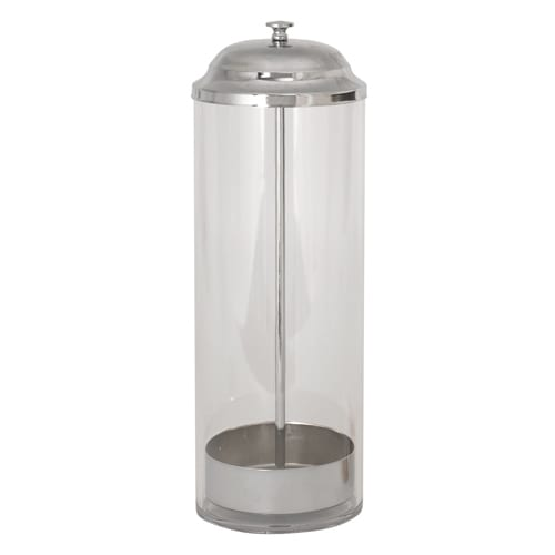 """Winco SDP-3 Straw Dispenser w/ 100 Straw Capacity, 3.37 x 10.75"""", Polycarbonate"""
