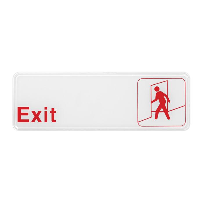 """Winco SGN-381W Exit Sign - 3"""" x 9"""", White"""