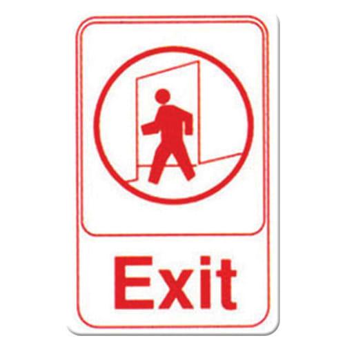 """Winco SGN-681W Exit Sign - 6"""" X 9"""", White"""