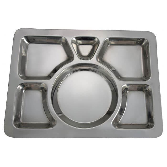 Winco SMT-1 6 Compartment Mess Tray, Style A