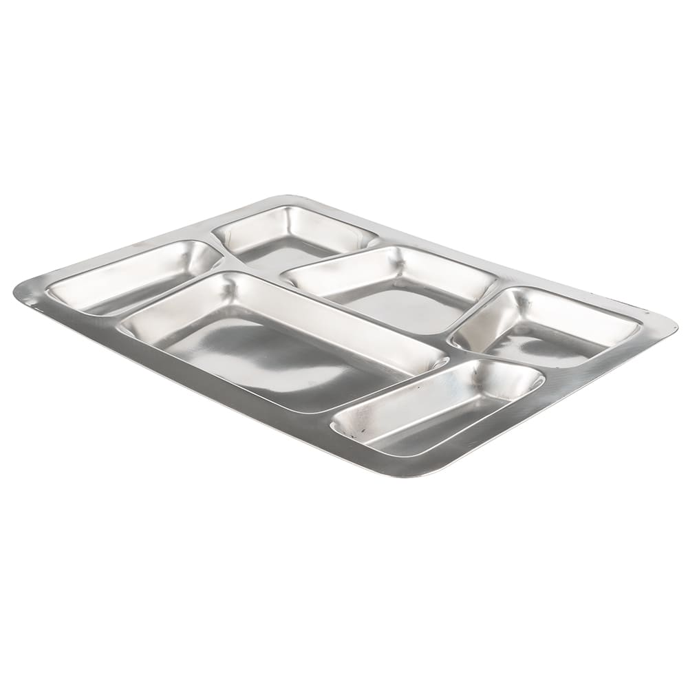 Winco SMT-2 6 Compartment Mess Tray, Style B