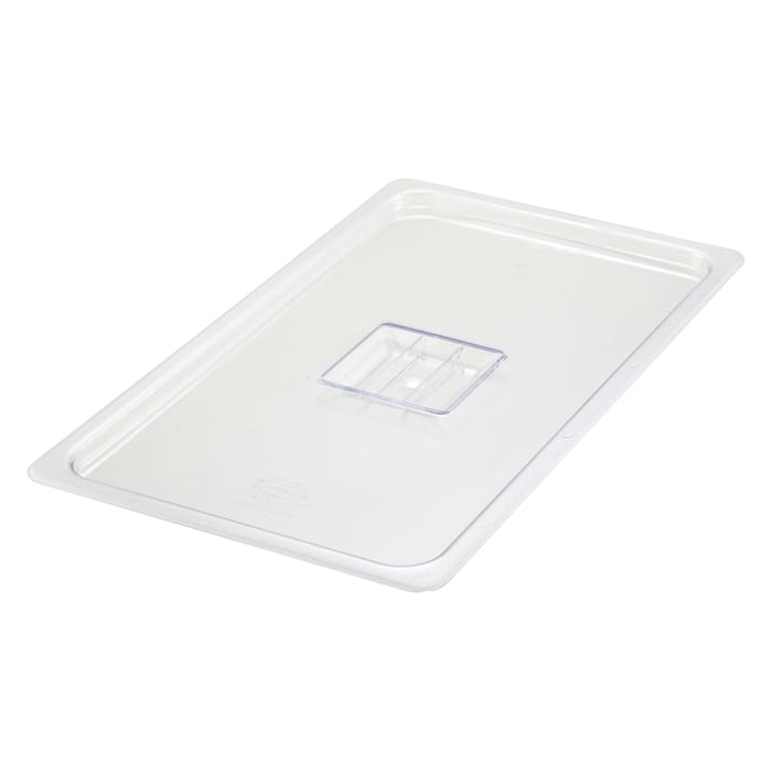 Winco SP7100S Poly-Ware Food Pan Cover, 1/1 Size, Solid, Polycarbonate