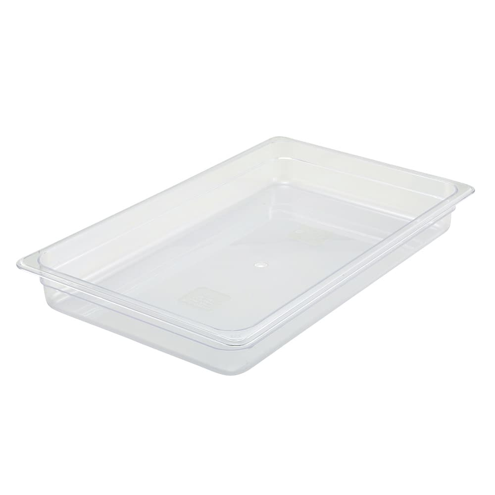 "Winco SP7102 Full-Size Food Pan - 2.5""D, Polycarbonate, Clear"