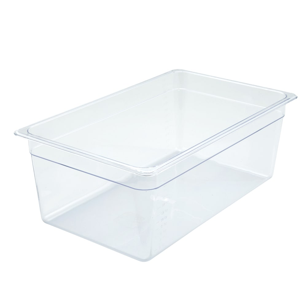 "Winco SP7108 Full-Size Food Pan, 8"" Deep, Break Resistant Polycarbonate"
