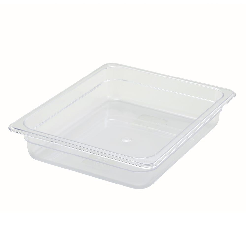 "Winco SP7202 Half-Size Food Pan, 2.5"" Deep, Break Resistant Polycarbonate"