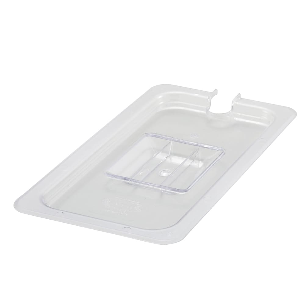 Winco SP7300C 1/3 Size Poly-Ware Food Pan Cover, Slotted, Polycarbonate