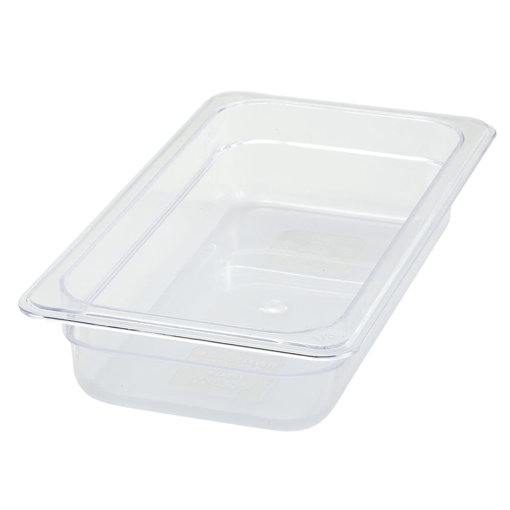 """Winco SP7302 1/3 Size Food Pan, 2.5"""" Deep, Break Resistant Polycarbonate"""