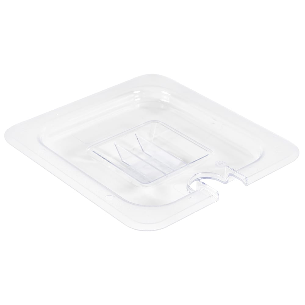 Winco SP7600C 1/6 Size Slotted Food Pan Cover, Polycarbonate