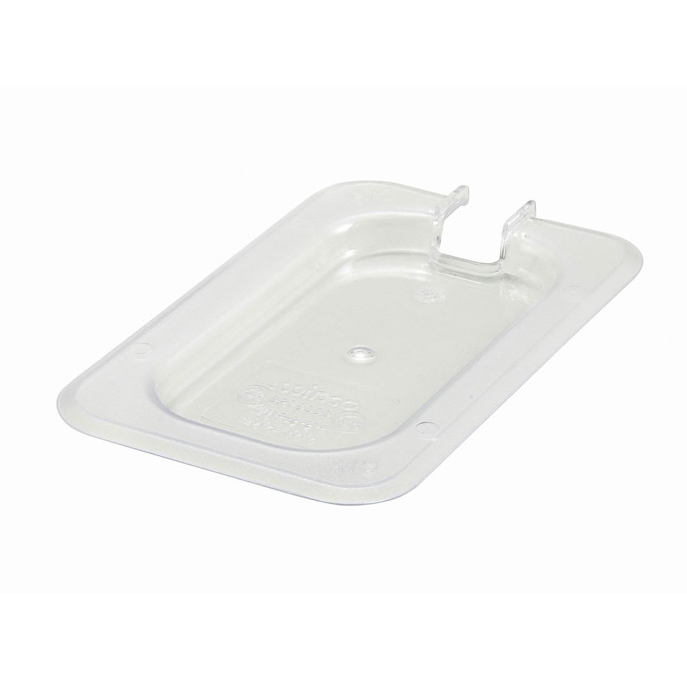 Winco SP7900C 1/9-Size Slotted Food Pan Cover, Polycarbonate