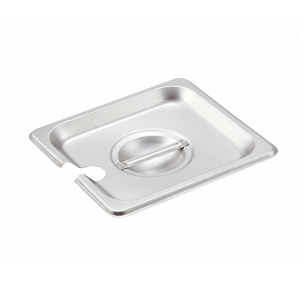 Winco SPCS Sixth-Size Steam Pan Cover, Stainless