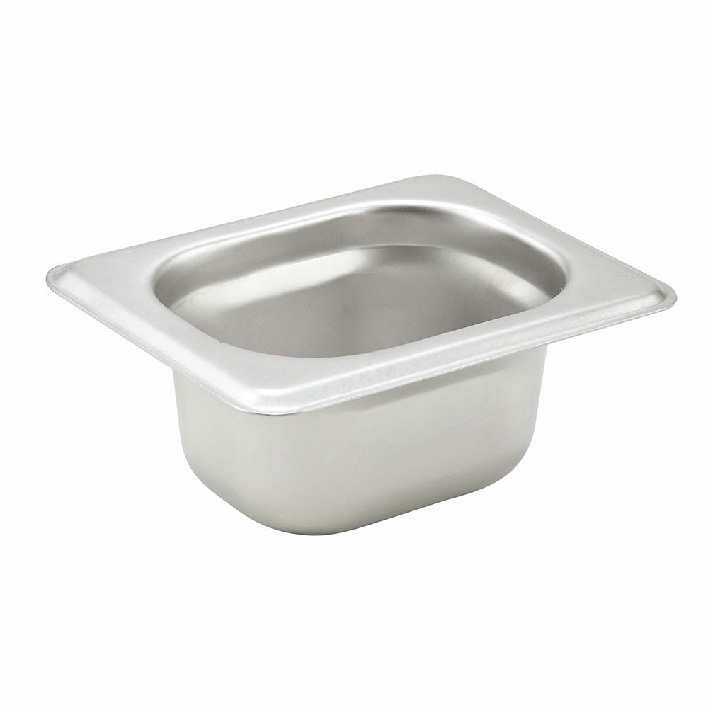 """Winco SPJH-1802 1/18 Size Steam Table Food Pan, Anti-Jamming, 2"""" Deep, Stainless"""