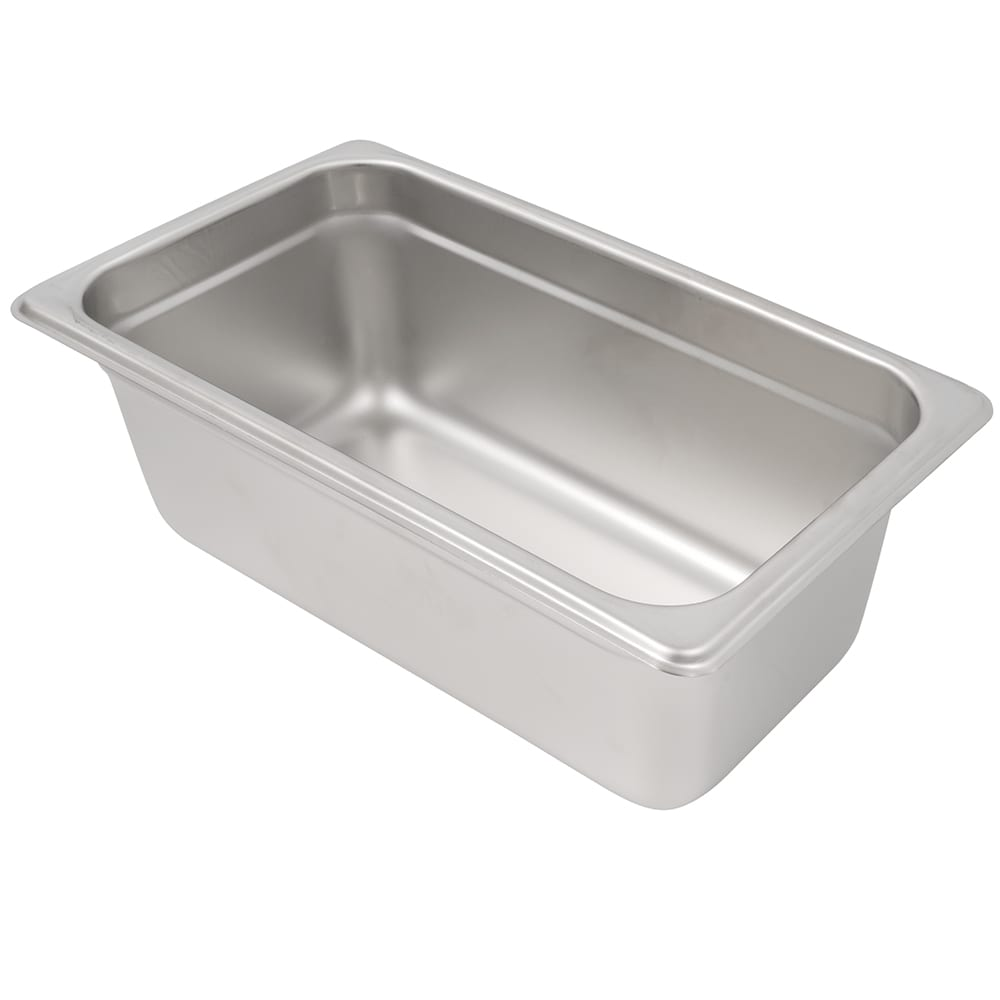 Winco SPJH-404 Fourth-Size Steam Pan, Stainless