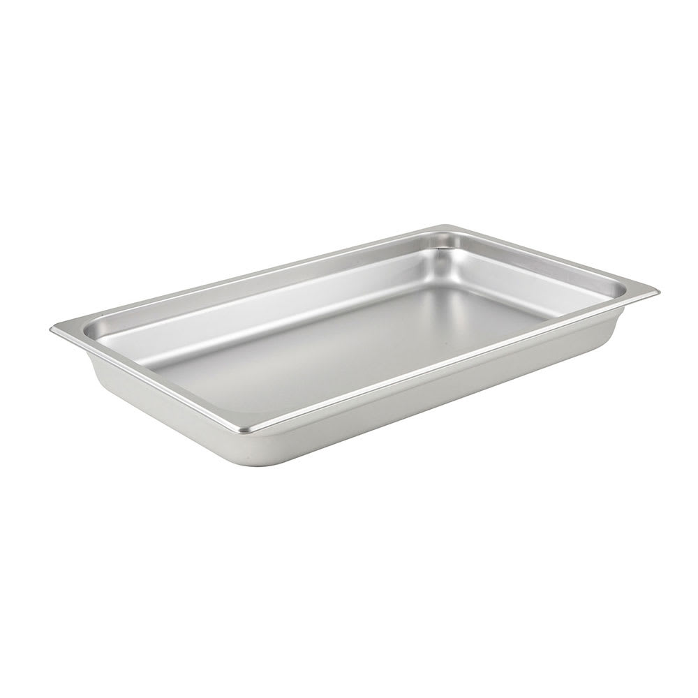 Winco SPJL-102 Full-Sized Steam Pan, Stainless
