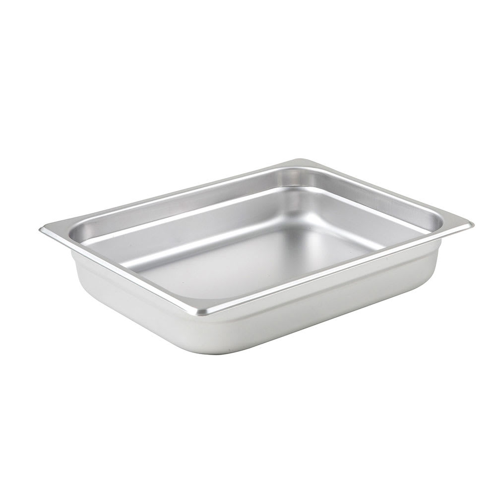 Winco SPJM-202 Half-Sized Steam Pan, Stainless