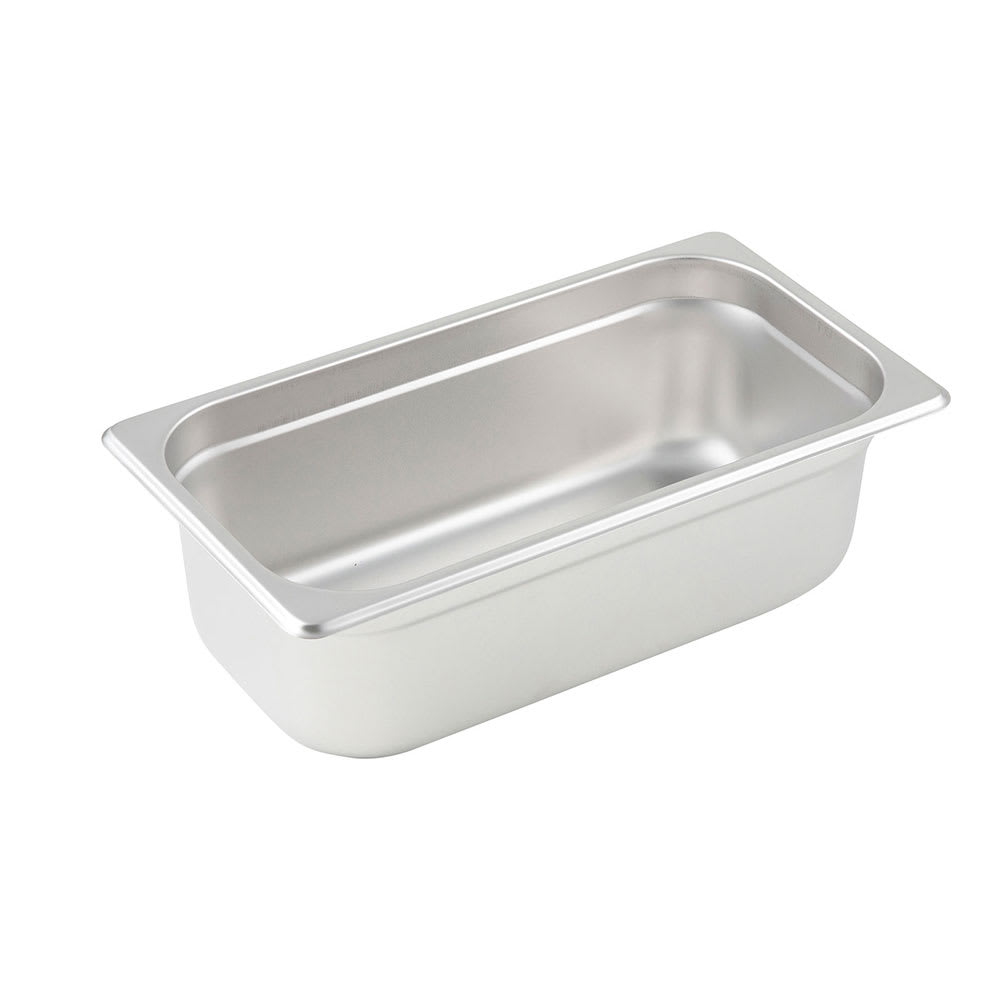 Winco SPJM-304 Third-Size Steam Pan, Stainless
