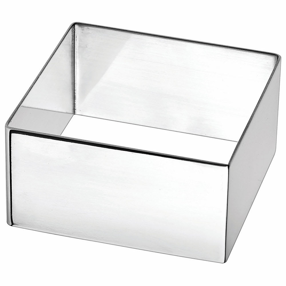 """Winco SPM-275S Square Pastry Mold - 2.75"""" x 2.75"""", Stainless"""