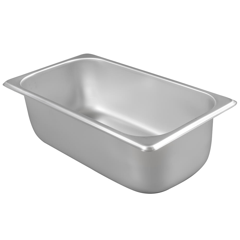 Winco SPT4 Third-Size Steam Pan, Stainless