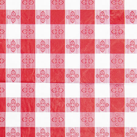 """Winco TBCO-70R Oblong Table Cloth, PVC Material w/ Flannel Backing, 52 x 70"""", Red"""