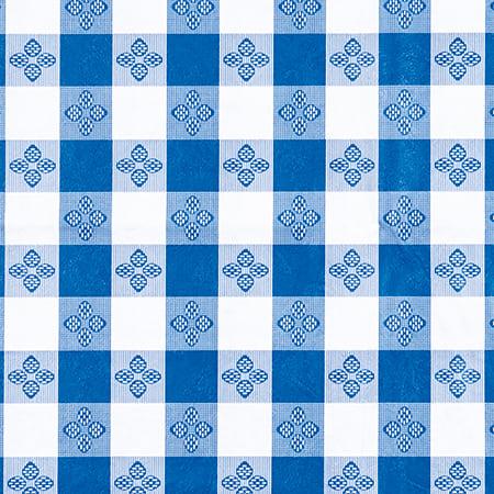 "Winco TBCS-52B Square Table Cloth, PVC Material w/ Flannel Backing, 52 x 52"", Blue"