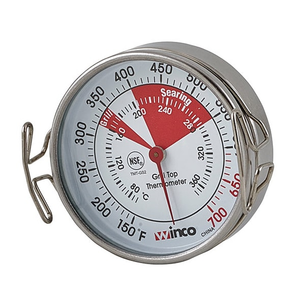 """Winco TMT-GS2 Grill Surface Thermometer w/ Stainless Casing, 2.2"""""""