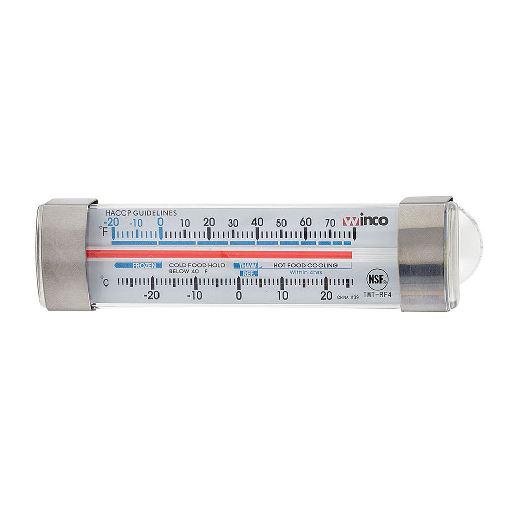 "Winco TMT-RF4 4.75"" Dial Type Refrigerator Freezer Thermometer, Temp Range -20 to 80 F"