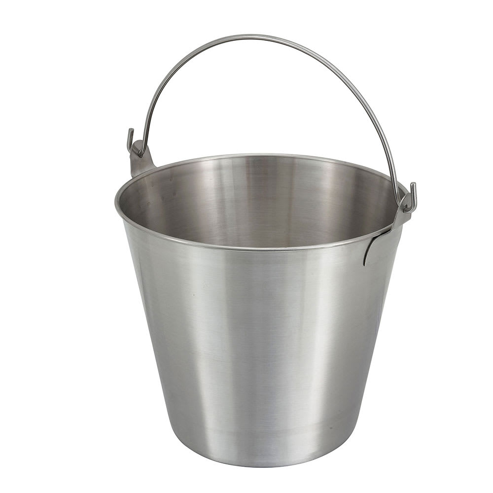 Winco UP-13 13 qt Utility Pail, Stainless