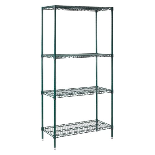 "Winco VEXS-1836 Epoxy Coated Wire Shelf Kit - 36""W x 18""D x 72""H"