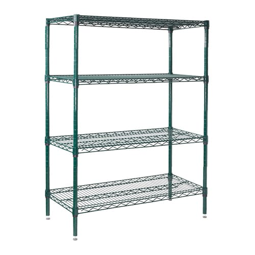 """Winco VEXS-2448 Epoxy Coated Wire Shelving Unit w/ (4) Levels, 24x48x72"""""""