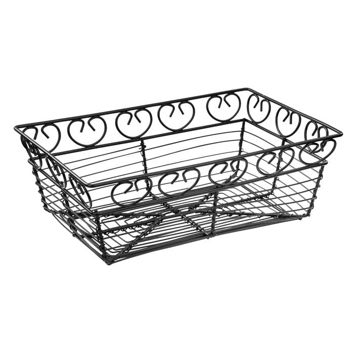 """Winco WBKG-9 Rectangular Bread/Fruit Basket, 9 x 5 7/8 x 3""""H, Wire"""