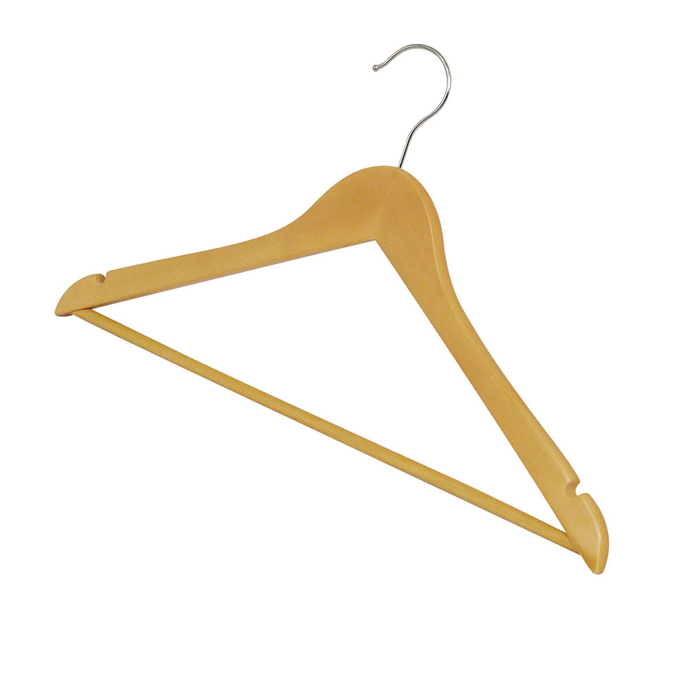 Winco WCH-1 Clothes Hanger, Maple Hardwood