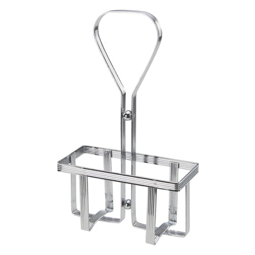 Winco WH-5 Square Oil & Vinegar Cruet Rack, Chrome Plated