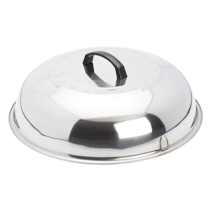 Winco WKCS-15 Wok Cover, 15-3/8 in, Stainless Steel